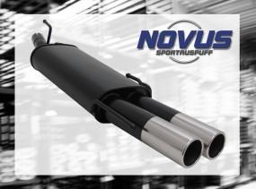 Novus Endschalldämpfer 2 x 76mm M-Design Opel Astra F Cabrio Ope
