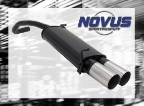 Novus Endschalldämpfer 2 x 90mm RL-Design Skoda Fabia Skoda FABI