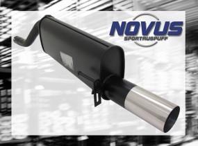Novus Endschalldämpfer 1 x 90mm RL-Design Opel Corsa D Opel CORS