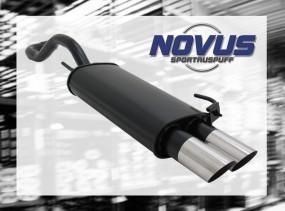 Novus Endschalldämpfer 2 x 76mm MS-Design VW Polo IV Facelift Vo