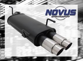 Novus Endschalldämpfer 2 x 76mm GP-Design Opel Vectra B Opel Vec