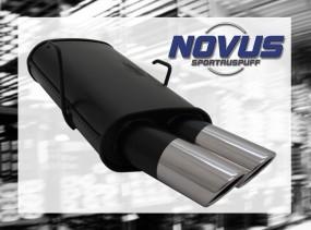 Novus Endschalldämpfer 2 x 76mm SR-Design 106 Peugeot 106 1A/1C/