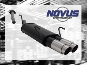 Novus Endschalldämpfer 2 x 90mm GP-Design Opel Astra G Caravan O