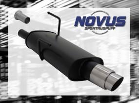 Novus Endschalldämpfer 1 x 90mm GP-Design 206CC Peugeot 206CC 2A