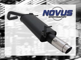 Novus Endschalldämpfer 1 x 90mm GP-Design VW Polo V Facelift Vol