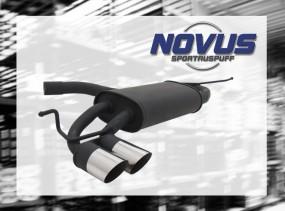 Novus Endschalldämpfer 2 x 76mm MS-Design VW Golf VI Volkswagen