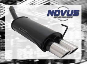 Novus Endschalldämpfer 2 x 76mm SR-Design Opel Astra H Opel Astr