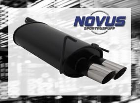Novus Endschalldämpfer 2 x 76mm MS-Design CLK-Klasse inkl. Cabri