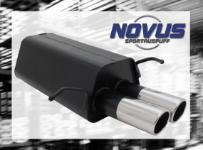 Novus Endschalldämpfer 2 x 76mm SR-Design C-Klasse Mercedes C-Kl